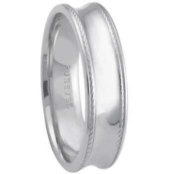 6mm 6T84 Mens Comfort Curve Wedding Band