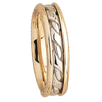 5mm 5529 Ladies Two Tone Wedding Band