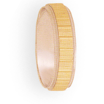 6mm 4T92 Mens Two-Tone Wedding Band