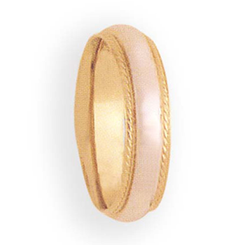5mm 6T53 Ladies Two-Tone Wedding Band