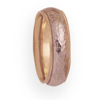 6mm 4T47 Ladies Two-Tone Wedding Band