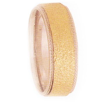 8mm 4T78 Mens Two-Tone Wedding Band