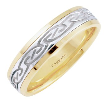 MENS CELTIC SPIRAL WEDDING BAND