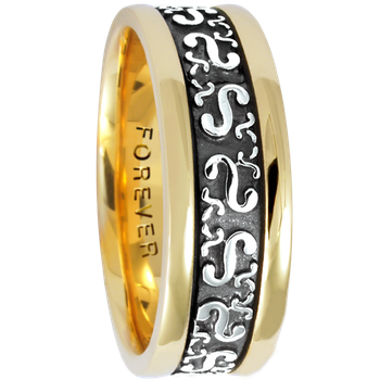 7.5mm 5412 Mens Celtic Wedding Band