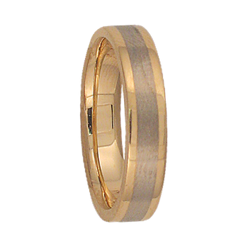 4mm 5T88 Ladies Two-Tone Wedding Band