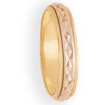5mm 7T46 Mens Two-Tone Wedding Band