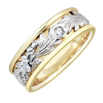 Man's Diamond Wedding Band