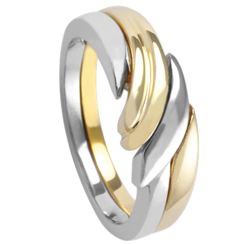 Ladies Two Tone  Ring 2291