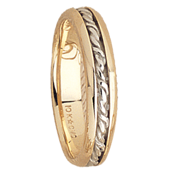 5mm 5536 MensTwo Tone Wedding Band