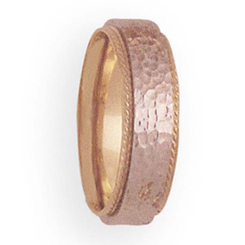 6mm 4T49 Ladies Two-Tone Wedding Band
