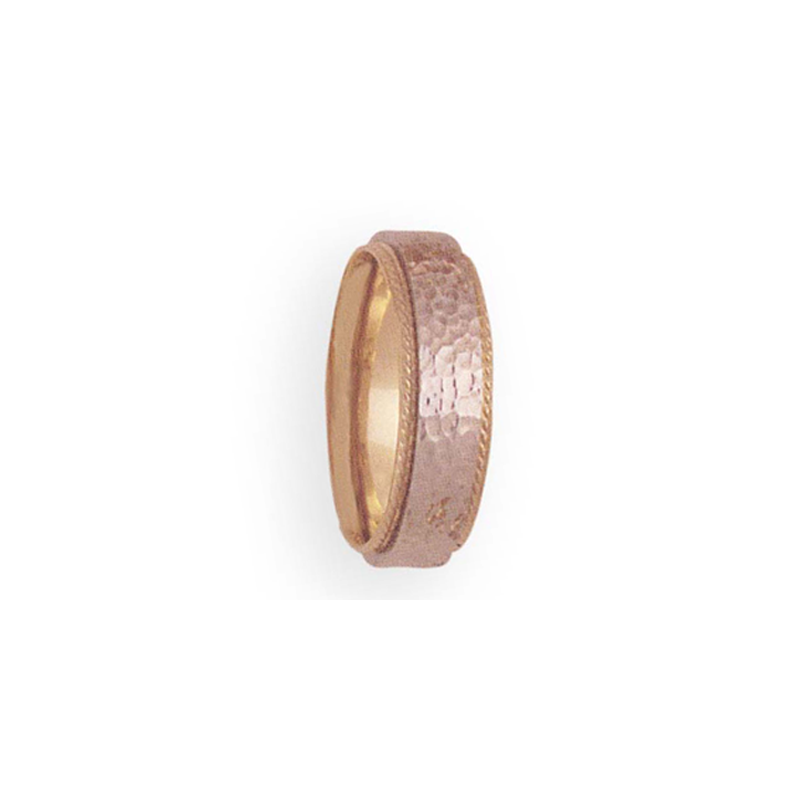 Cadman Catalog 6mm 4T49 Ladies Two-Tone Wedding Band