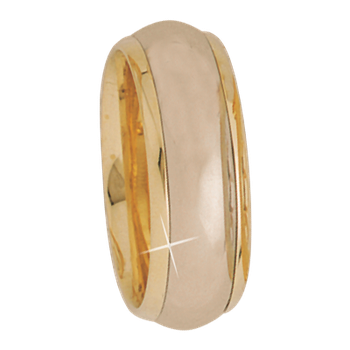 7.5mm 5264 Ladies Two Tone Wedding Band