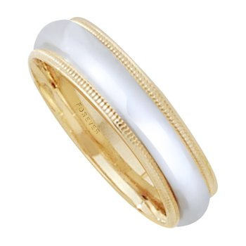 5mm 5T01B Ladies Two-Tone Wedding Band