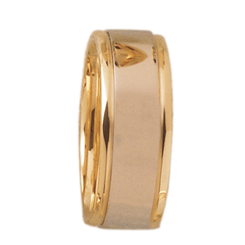 7mm DF7T01 Ladies Two-Tone Comfort Curve Wedding Band