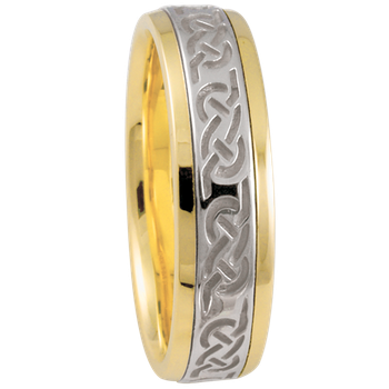 6mm 5852 Mens Celtic Wedding Band