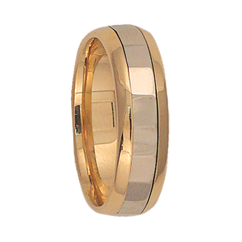5mm 6T07 Ladies Two-Tone Wedding Band