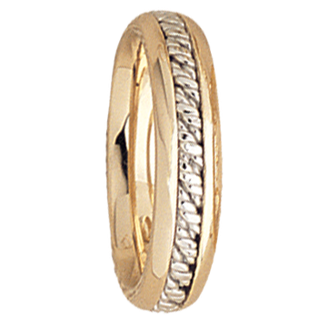 5mm 5539 LadiesTwo Tone Wedding Band