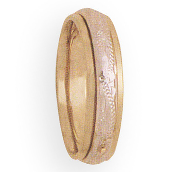 5mm 4T55 Ladies Two Tone  Wedding Band