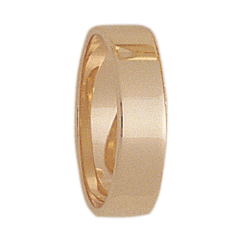 6mm S600R Ladies Light-Weight Rectangular Wedding Band