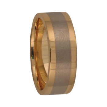 7.5mm 5262 Mens Two-Tone Wedding Band