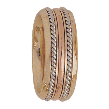 7.5mm 5164 Ladies Tricolour Wedding Band