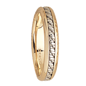 5mm 5538 Mens Two Tone Wedding Band