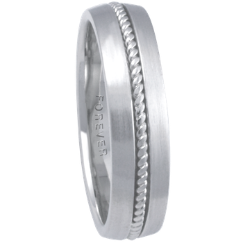 6mm 7T10 Mens Comfort Curve Wedding Band