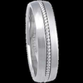 6mm 7T10 Mens Comfort Curve Wedding Band