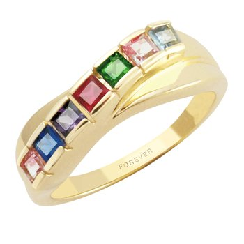 Cadman Family Ring Set With Princess-Cut Stone