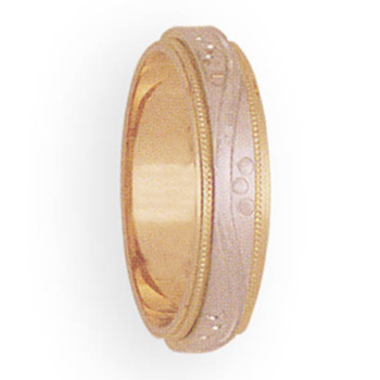 5mm 3T58 Ladies Two-Tone Wedding Band