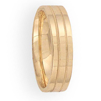 6mm 6T36 Mens Comfort Curve Wedding Band