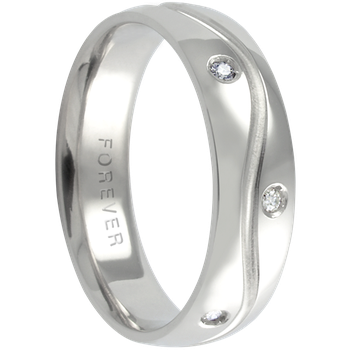 6mm 1T030 Mens Comfort Curve Wedding Band