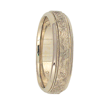 5mm 6T23 Ladies  Two-Tone Wedding Band
