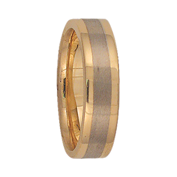5mm 5T84 Ladies Two-Tone  Wedding Band