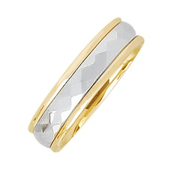 5mm 5T65 Ladies Two-Tone Wedding Band