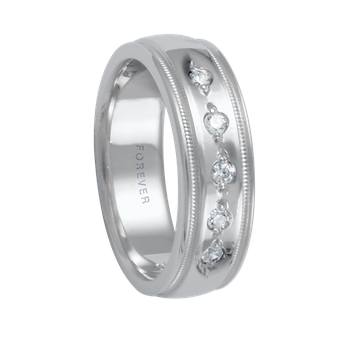 6mm 1T072 Ladies Diamond Set Comfort Curve Wedding Band