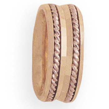 8mm 4T30 Ladies Two-Tone wedding Band