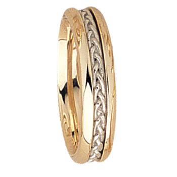 5mm 5531 Ladies Two Tone Wedding Band
