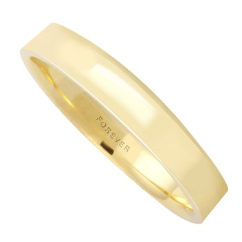 4MM S400RM Light-weight Rectangular Wedding Band