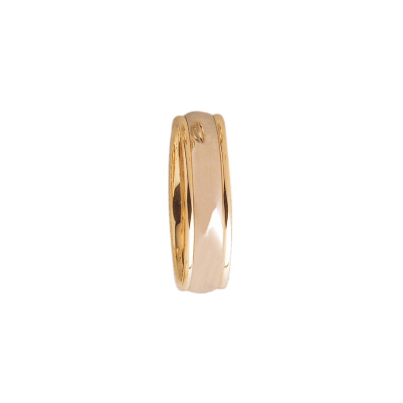 Cadman Catalog 6mm D6T01 Mens Two-Tone Comfort Curve Wedding Band