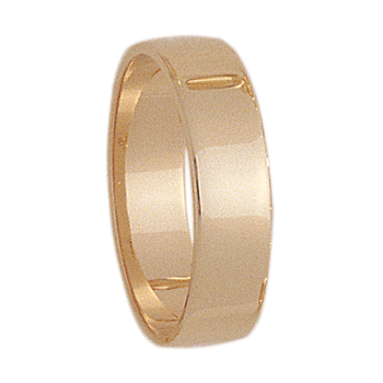 6mm S600R Mens Light-Weight  Rectangular Wedding Band