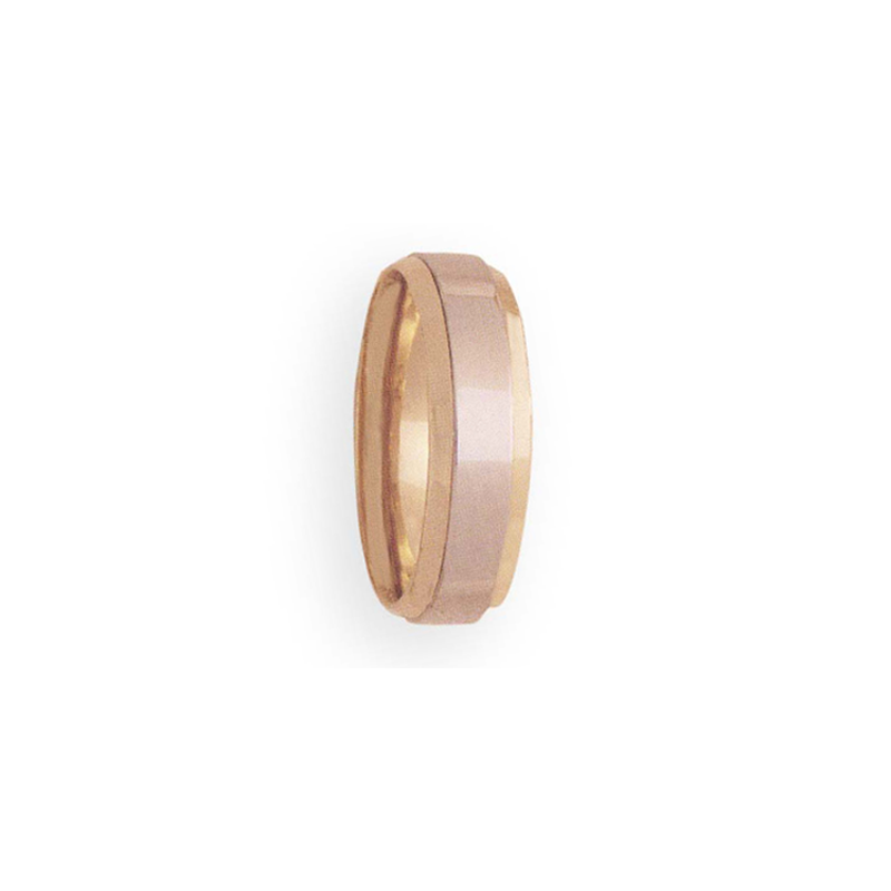 Cadman Catalog 7mm 4T34 Mens Two-Tone Wedding Band