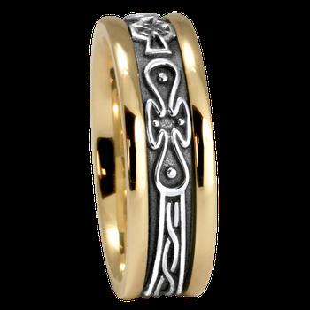 7.5mm 5474 Ladies Celtic Wedding Band