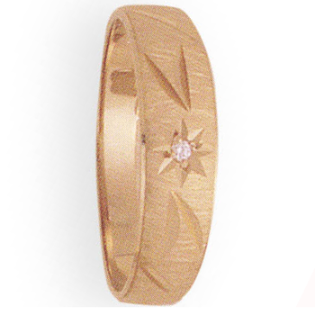 6mm 296D Mens Tapered Wedding Band