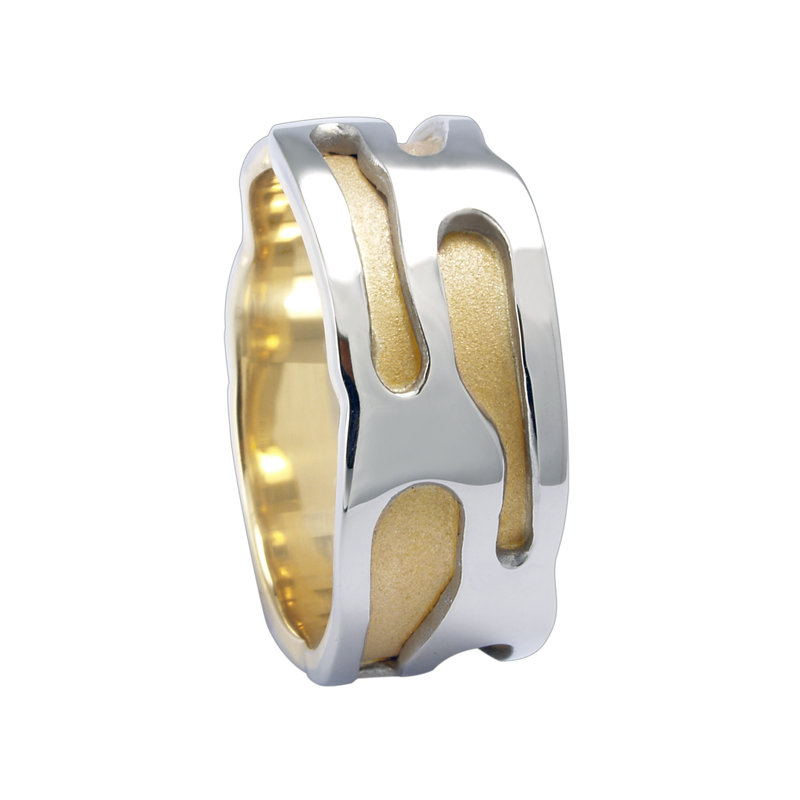 Cadman Catalog 9mm 5774 Mens Two Tone Wedding Band