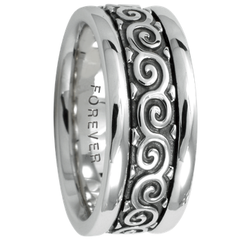 7.5mm 5424 Ladies Celtic Wedding Band