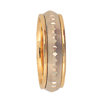 6mm 5T97 Ladies Two Tone Wedding Band