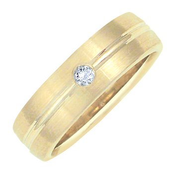 6mm 5T90D Ladies Diamond-Set Wedding Band