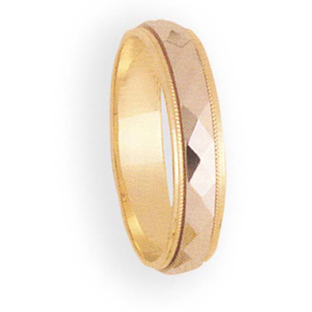 5mm 6T30 Mens Two-Tone Wedding Band