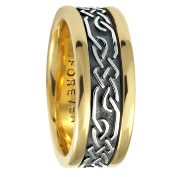 7.5mm 5468 Ladies Celtic Wedding Band
